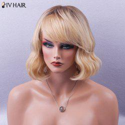Siv Hair Side Bang Shaggy Short Wavy Bob Human Hair Wig