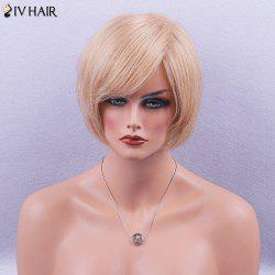 Siv Hair Side Bang Glossy Straight Short Bob Human Hair Wig