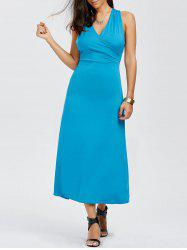 Surplice Sleeveless Maxi Dress