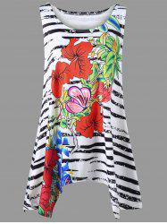 Floral and Zebra Plus Size Tank Top