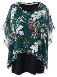 Plus Size Tank Top with Butterfly Sleeve Blouse
