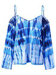 Tie Dye Dew Shoulder T-Shirt