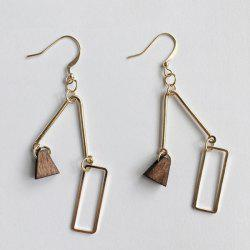 Gold Plated Geometric Hook Earrings