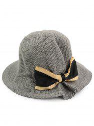 Woven Bowknot Embellished Breathable Bucket Hat