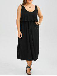 Ruffle Sleeveless Maxi Plus Size Dress