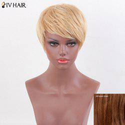 Siv Hair Inclined Bang Straight Short Layered Human Hair Wig