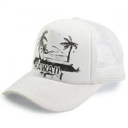 Coconut Tree Hawaiian Print Baseball Hat
