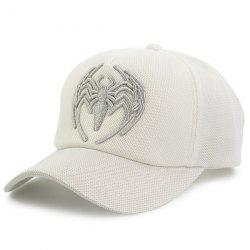 Mesh Spliced Spider Embroidered Baseball Hat