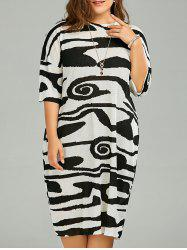 Plus Size Funny Graphic Baggy T-Shirt Dress