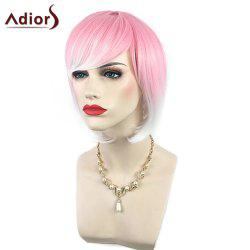Adiors Side Bang Short Silky Straight Bob Colormix Synthetic Wig
