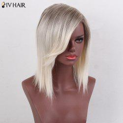 Siv Hair Colormix Medium Side Bang Silky Straight Bob Human Hair Wig - COLORMIX