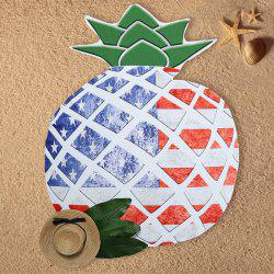 US Flag Element Pineapple Design Beach Throw