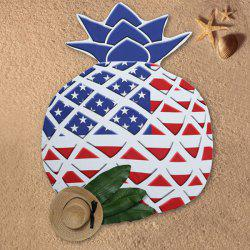 American Flag Printed Pineapple Design Beach Throw