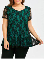 Floral Lace Plus Size Top