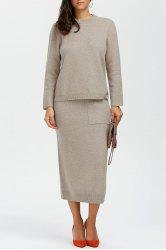 Wool Sweater With Long Skirt -