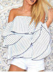 Tiered Sleeve Off The Shoulder Blouse -