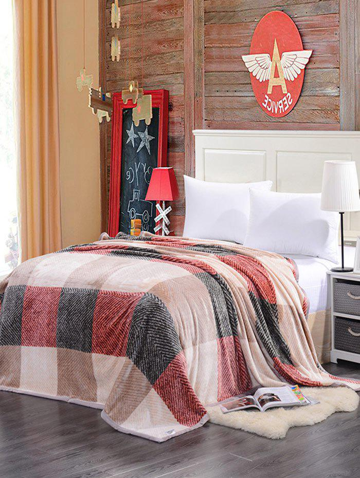 Plaid Print Super Soft Sofa Nap Literie Throw Blanket