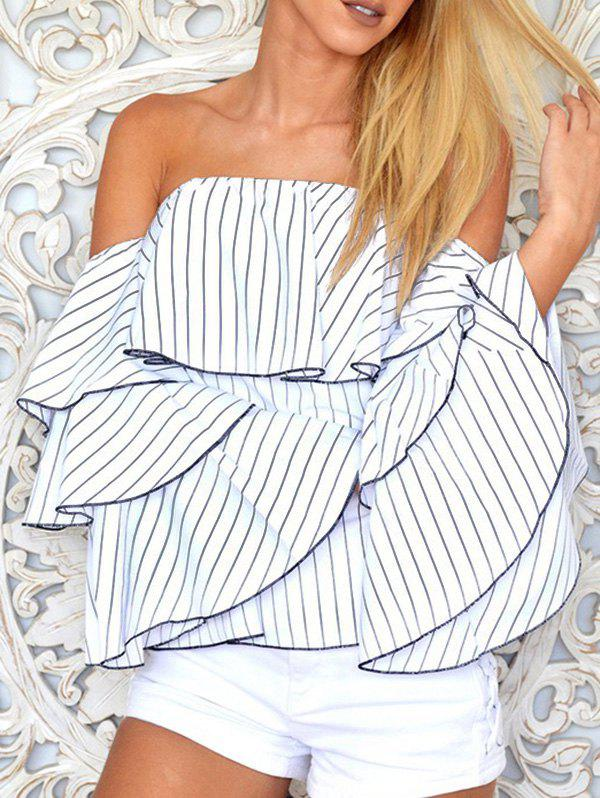 Tiered Sleeve Off The Shoulder Blouse