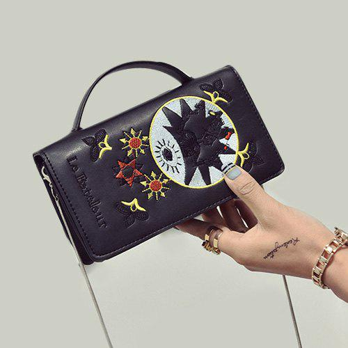 Cheap Embroidered Flap Crossbody Bag