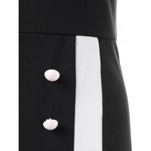 Sweetheart Neck Tight Pencil Fitted Sheath Dress - BLACK L