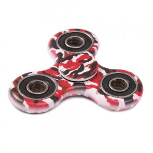 Camouflage Print Focus Toy Stress Relief Fidget Spinner - RED