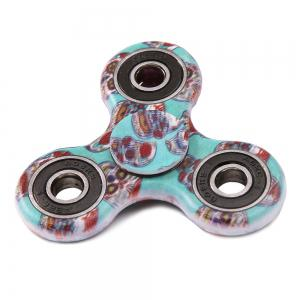 Camouflage Print Focus Toy Stress Relief Fidget Spinner - GREEN BLUE