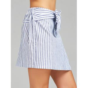 High Waist Stripe Skirt -