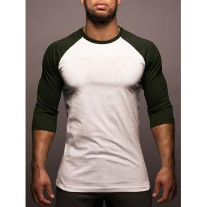 Two Tone Raglan Sleeve Tee