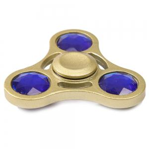 Fake Crystal Embellished Fidget Spinner Stress Relief Gyro - Golden - 6*6cm