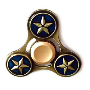 Star Pattern Finger Gyro Alloy Fidget Spinner Focus Toy - Deep Blue - 6.5*6.5*1.7cm