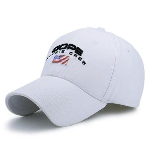 American Element Embroidered Baseball Hat - White - One Size