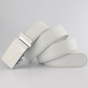 Polishing Orchid Pattern Auto Buckle Belt -