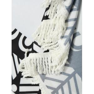 Frange ronde Ombre Print Beach Throw -