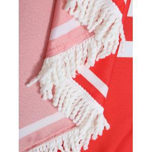 Letter Print Fringe Heart Shape Beach Throw - Rouge TAILLE MOYENNE