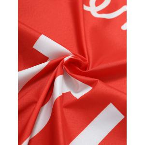 Letter Print Fringe Heart Shape Beach Throw - RED ONE SIZE