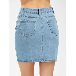 Bodycon Ripped Mini Denim Skirt -