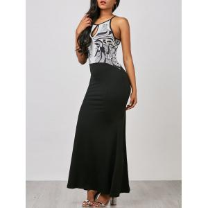 Cut Out Bodycon Maxi Prom Dress