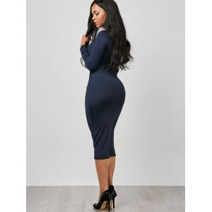 Robe Bodycon - Bleu Violet M