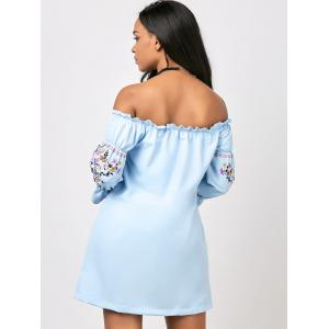 Floral Short Off The Shoulder Dress -