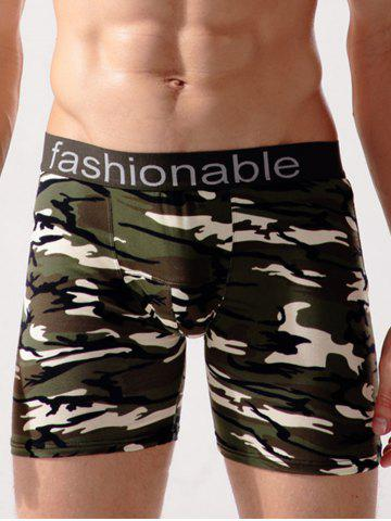 Fancy Stretch Camo Swimming Trunks