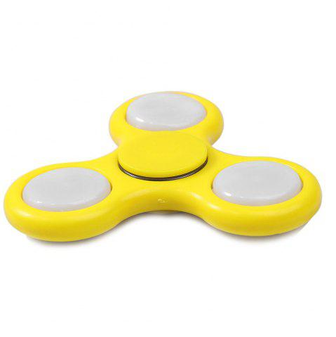 Cheap Flash Triangle Finger Toy Fidget Spinner YELLOW