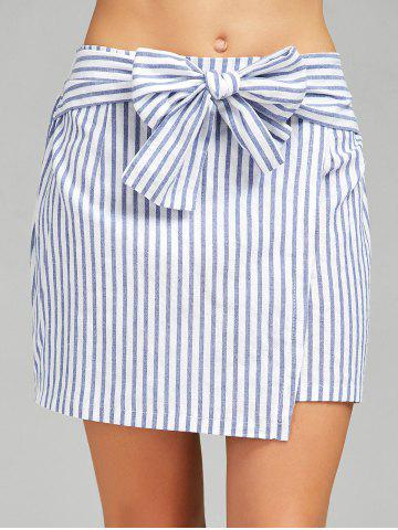 Sale High Waist Stripe Skirt STRIP PATTERN L
