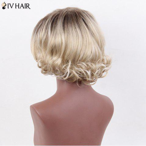 Outfits Siv Hair Shaggy Curly Inclined Bang Colormix Short Human Hair Wig - COLORMIX  Mobile