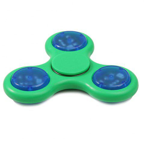 Discount Flash Triangle Finger Toy Fidget Spinner GREEN