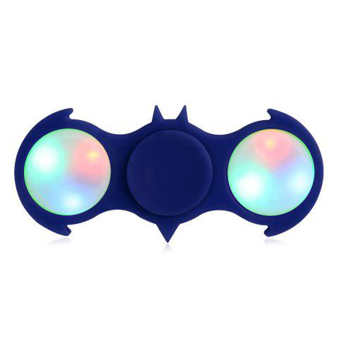 Discount Fiddle Toy Bat Fidget Spinner with Colorful Flashing LED Lights BLUE