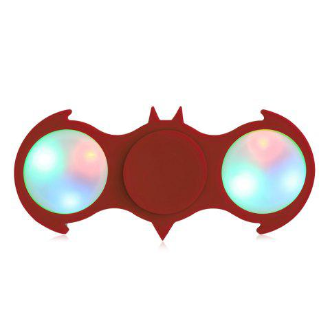 Outfits Fiddle Toy Bat Fidget Spinner with Colorful Flashing LED Lights RED