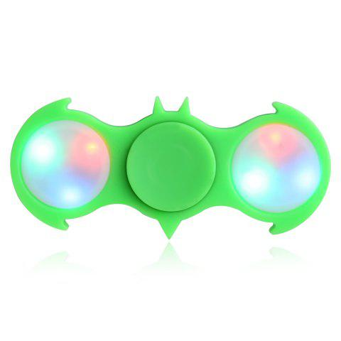 Shop Fiddle Toy Bat Fidget Spinner with Colorful Flashing LED Lights GREEN
