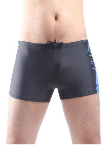 Outfits Two Tone Drawstring Swimming Trunks - L BLUE Mobile
