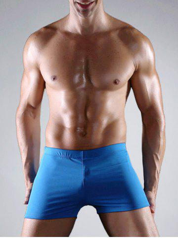 Buy Stretch Elastic Waist Swimming Trunk - 3XL BLUE Mobile