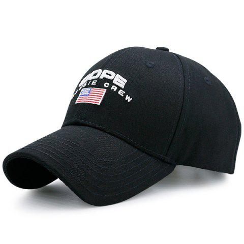 American Element Embroidered Baseball Hat - Full Black